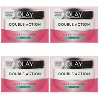 4 Olay Double Action Day & Night Moisturiser Cream Sensitive Hydrating Care 50ml
