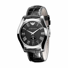 NEW EMPORIO ARMANI AR0643 MENS LEATHER WATCH - 2 YEAR WARRANTY
