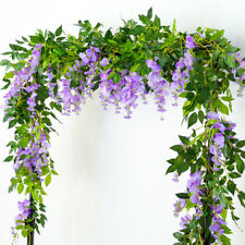 2M Artificial Flower Garland 6.6ft Wisteria Plant Vine Hanging Floral Home Patio