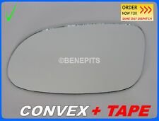 For MERCEDES CLK 270 W209 Wing Mirror Glass CONVEX + TAPE  2003-2009 Left /E009