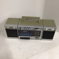 Vintage Sony CFS-3000 Transound FM/AM Cassette Recorder Boombox  Silver Parts