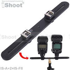 Metal Camera Holder/Flash Bracket+2*Hot Shoe Mount Adapter for Nikon Speedlight