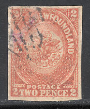 NFLD 1860 2d orange, Scott 11, VF used, catalogue - $600
