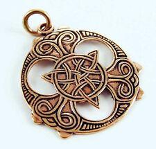 Charmed collier symbole triquetra motifs celtes en bronze avec cordon cuir noir