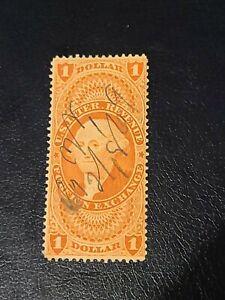 Scott #R68 US 1862 1 Dollar Revenue Foreign Exchange Stamp Beautiful Shape-#1838