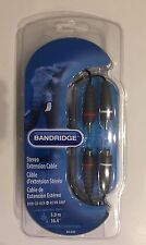 Bandridge BAL4305 Stereo-Audio-Verlängerungskabel Cinch 5 m Blau Neu & OVP