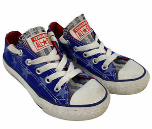 Converse All Star Low Top Sneakers Blue Star Print Patriotic Toddler 11 642834F