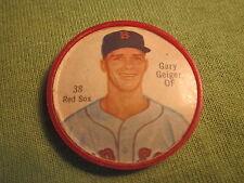 1962 Gary Geiger Boston Red Sox #38 Salada Tea coin medallion