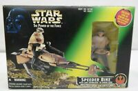 Star Wars Power Of The Force Speeder Bike w/ Luke Skywalker in Endor Gear  TY