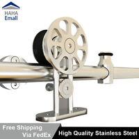 Modern 304 Stainless Steel Sliding Barn Door Hardware Closet Track Kit 5-16FT