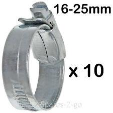 10 x Dishwasher Washing Machine Drain Hose Jubilee Pipe Clip Small 16 - 25mm