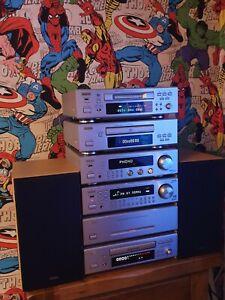 Denon DRA-F100 HiFi System Amp Receiver Pre Amp Cd Tape Mini Disc Remote F100