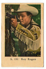 1950s Swedish Film Star Card Star A Set # 151 US Singer Cowboy Actor Roy Rogers