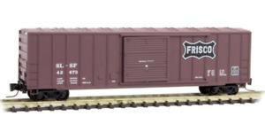 Micro Trains Z Scale Frisco SLSF 50' Rib Side Sliding Door Box Car 510-00-062