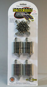 BACHMANN E-Z TRACK HO SCALE 90° CROSSING & ADAPTER SECTIONS gray xing BAC44541