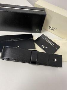 mont blanc leather pen case Single Siena