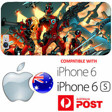 iPhone 6 6S Silicone Case Cover Deadpool Squad Superhero Marvel Bazooka Ryan AUS