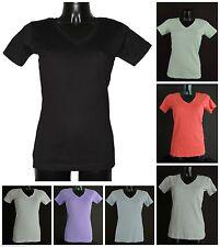 Markenlose unifarbene Damen-T-Shirts aus Baumwolle