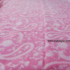 10 Yard Hand Block Print 100% Pure Indian Cotton Floral Printed Running Fabric