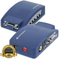 Fosmon High Resolution VGA to RCA S Video Converter with Audio Cable - Blue