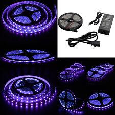 Purple led car lighting ebay wholesale16ft 5050 uv ultraviolet purple fish black light 300 led strip adapter mozeypictures Images