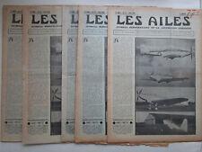 AILES 1936 772 FAIREY BATTLE SAVOIA SM-84 AUTOGIRE AIR BLEU MARINE ETHIOPIE POU