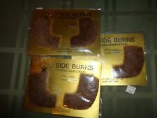 Human Hair Sideburns 2019 NIP Lot of 2 pr Costume Museum Victorian Rubie's Brown