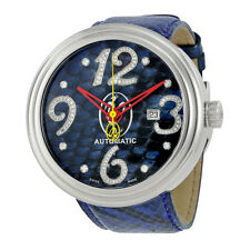 Jacob and Co. Valentin Yudashkin Blue Python Diamond Mens Watch WVY-017