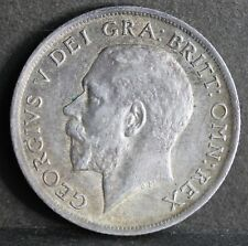George V. Sterling Silver Shilling, 1915, aEF