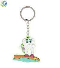 DENTAL MOLAR TOOTH AT THE BEACH KEYCHAIN GIFT SOUVENIR FOR DENTIST HYGIENIST
