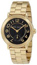 Marc Jacobs Riley Black Dial Ladies Gold Tone Watch MJ3512