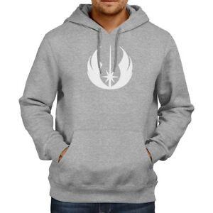 Pullover Hoodie Jacket Hooded Sweater Star Wars Legacy Jedi Order Symbol