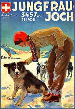 ART Jungfrau Joch Svizzera Switzerland Suisse Travel Poster stampati