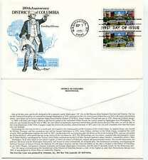 2561 Distric of Columbia Artmaster pair FDC