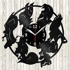 Disney Villains Vinyl Record Wall Clock Decor Handmade 1953