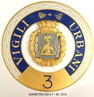 Treviglio Vigili Urbani distintivo numerato 3 periodo anni 1960/1970 circa