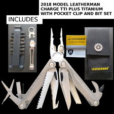 New Leatherman Charge TTI Plus+ Titanium 2018 model with bit kit and pocket clip