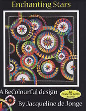 "Jacqueline de Jonge ""Enchanting Stars"" Paper Pieced Quilt Pattern Be Colourful"