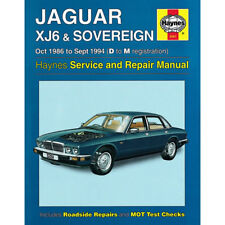 Jaguar Xj6 & Sovereign Oct 1986 to Sept 1994 Haynes Manual