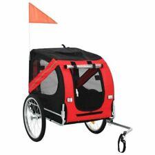 vidaXL 91766 Remorque de Vélo pour Chiens - Rouge/Noire