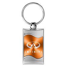 Infiniti Orange Spun Brushed Metal Key Chain, Official Licensed