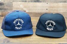Vintage MERCEDES BENZ Snapback Trucker Hat Mesh Cap 2 Hat Combo