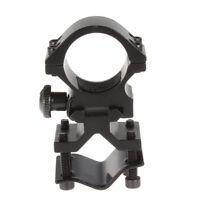 Adjustable Scope Barrel Mount Bracket Holder Clip Clamp fr 25mm Flashlight Torch