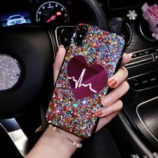 Cell Phone Case Love Rhinestone Cover Glitter Mobile Skin Protector Accessories