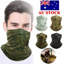 Tactical Military Balaclava Face Mask Paintball Airsoft Neck Warmer Headgear AU