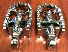 Chrome Rotating Footpegs Custom Foot Pegs For Harley Dyna Sportster 883 Models