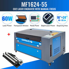 Omtech Upgraded Co2 Laser Engraver Cutter With Rotary Axis Ruida 60w 24x16