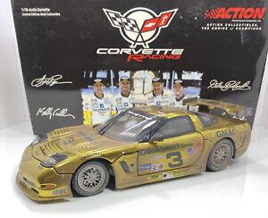 """ACTION 1/18 Scale CORVETTE """"Dale Earnhardt Jr.""""RACED GOLD CHROME VERSION..RARE"""