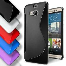 HTC One M8 Silicone Gel S Line Case Cover Ultra Thin Slim Back Bumper