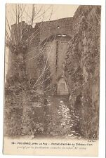 polignac ,près le puy , portail d'entrée du château-fort